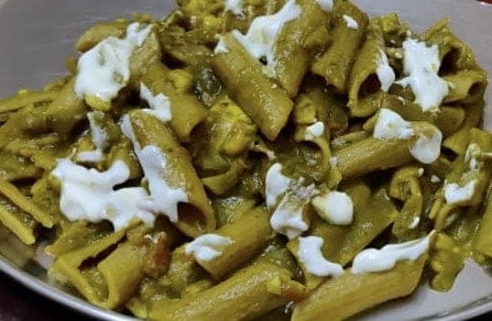 Spinach Pasta Recipe Indian Style